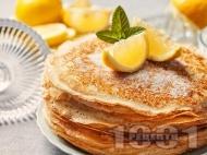 Палачинки с тесто от брашно, майонеза, яйца и топла вода